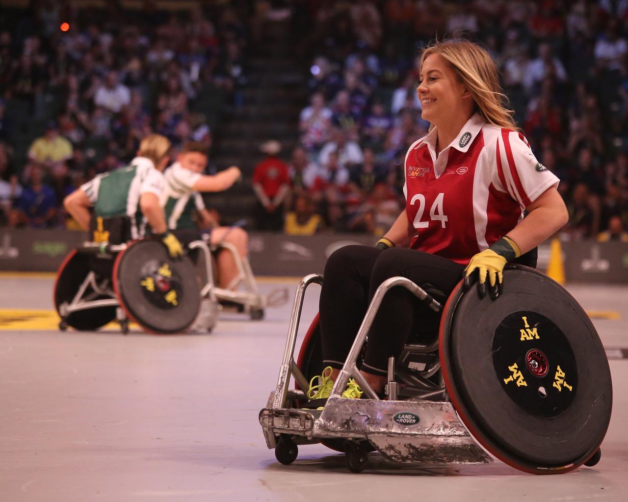 2)Penser au sport pour des personnes handicapées.